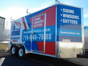 Custom commercial trailer wrap